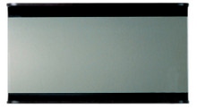 Whitehaus AEM100T Aeri Large Rectangular Wall Mount Mirror with Integral Wood Shelf - Ebony