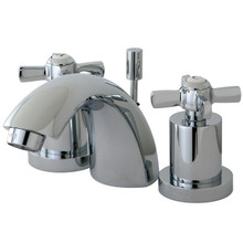 Kingston Brass KS2951ZX Two Handle Mini Widespread Lavatory Faucet - Polished Chrome