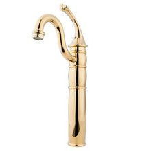 Kingston Brass Single Handle Vessel Sink Faucet with Optional Cover Plate - Polished Brass KB1422GL
