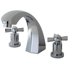 Kingston Brass Two Handle Roman Tub Filler Faucet - Polished Chrome KS4361ZX