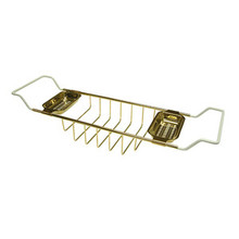 "Kingston Brass CC2152 Clawfoot Tub Soap Caddy Adjustable 26"" To 33"" - Polished Brass"