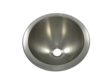 """Opella 18105.046 12"""" Round Bar Sink - Brushed Stainless - Undermount or Drop In"""