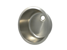 """Opella 14157.046 16"""" Round Bar Sink - Brushed Stainless Steel"""