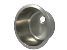 """Opella 14127.046 12"""" Round Bar Sink - Brushed Stainless Steel"""