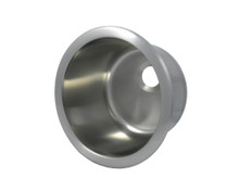 """Opella 14107.046 10"""" Round Bar Sink - Brushed Stainless Steel"""