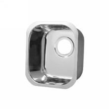 """Opella 13209.045 12"""" X 12"""" Square Undermount or Drop In Bar Sink - Polished Stainless Steel"""