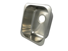 "Opella 13203.046 16"" x 14"" Rectangle Undermount or Drop In Bar Sink - Brushed Stainless Steel"