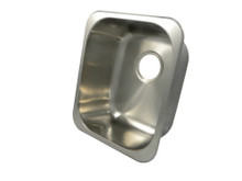 """Opella 13204.046 17"""" x 15"""" Rectangle Undermount or Drop In Bar Sink - Brushed Stainless Steel"""
