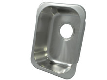 """Opella 13202.046 16"""" x 12"""" Rectangle Undermount or Drop In Bar Sink - Brushed Stainless Steel"""