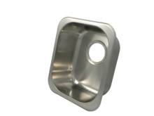 """Opella 13201.046 14"""" x 12"""" Rectangle Undermount or Drop In Bar Sink - Brushed Stainless Steel"""
