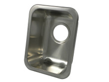 """Opella 13200.046 13"""" x 10"""" Rectangle Undermount or Drop In Bar Sink - Brushed Stainless Steel"""
