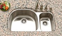 "Houzer Eston STC-2200SR-1 17 3/4"" x 18 1/2"" Double Bowl Kitchen Sink - Stainless Steel"