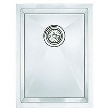 "Blanco 516208 Undermount 15"" x 18"" Single Bowl Kitchen Sink - Stylish Drain Grooves - Stainless"