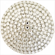 Linkasink D602 SN Round Decorative Drain With Swarovski Crystals - Satin Nickel