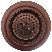 "Linkasink D003 - AB Spin and Turn Kitchen Basket Strainer 3 1/4"" - Antique Bronze"