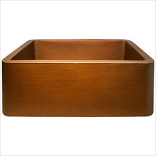 "Linkasink C020 SS Copper Farm House Single Bowl Kitchen Sink 30"" X 20"" X 10"" - Stainless Steel"