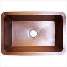 """Linkasink C010 SS Copper Undermount Kitchen Sink 30"""" X 20"""" X 10""""  - Hammered Stainless Steel"""