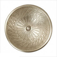 "Linkasink B026 WB Small Round Wing Bowl Drop in Lavatory or Vessel Sink 14"" X 6.5"" Od White Bronze ."