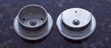 "JVJ 90522 Raw Steel Finish 1 3/8"" Diameter Hanging Pole Socket"