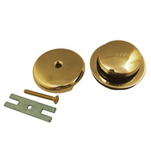 Kingston Brass DTT5302A2 Toe Tap Drain Kit - Polished Brass