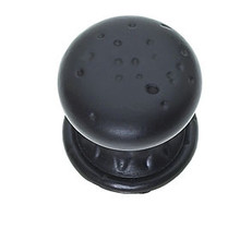 """JVJ 42720 Oil Rubbed Bronze 1 3/8"""" Pitted Mushroom Door Knob with Round and Square Back Plates"""