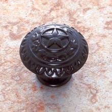 """JVJ 41520 Oil Rubbed Bronze 1 3/8"""" 'Texas Star' Door Knob"""