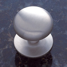 "JVJ 35446 Satin Nickel 1 1/2"" Plymouth Door Knob With Back Plate"