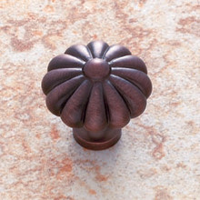 "JVJ 35112 Old World Bronze 35 mm (1 3/8"")  Pumpkin Door Knob"
