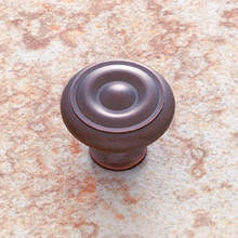 "JVJ 35012 Old World Bronze 1 1/4"" Georgian Door Knob"