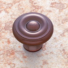 "JVJ 34912 Old World Bronze 1 1/2"" Georgian Door Knob"