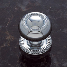 "JVJ 34526 Chrome 1 1/4"" Rope Door Knob With Back Plate"