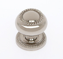 "JVJ 34516 Polished Nickel 1 1/4"" Rope Door Knob With Back Plate"