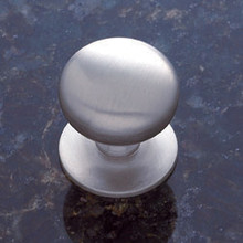 "JVJ 34446 Satin Nickel 1 1/4"" Plymouth Door Knob With Back Plate"