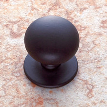"JVJ 34420 Oil Rubbed Bronze 1 1/4"" Plymouth Door Knob With Back Plate"