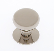 "JVJ 34416 Polished Nickel 1 1/4"" Plymouth Door Knob With Back Plate"