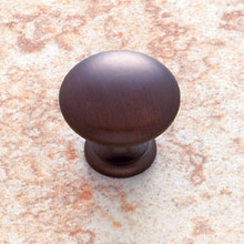 "JVJ 30512 Old World Bronze 1 1/8"" Mushroom Door Knob"