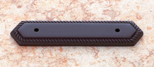 "JVJ 87220 Oil Rubbed Bronze 3"" C/C Rope Back Plate"