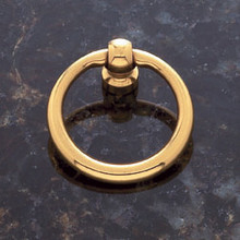 "JVJ 31001 Solid Brass 1 1/2"" Diameter Ring Door Pull"