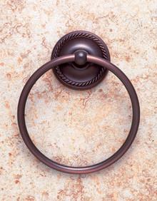 JVJ 24706 Roped Series Old World Bronze Towel Ring