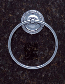JVJ 22606 Roped Series Chrome Towel Ring