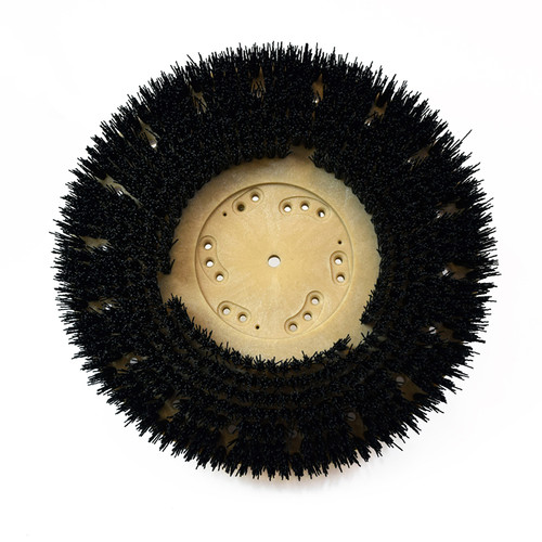 Floor scrubber strip brush .050 nylon 80 grit Malgrit 813219g100 19 inch block for some Clarke machines that use G100 gimbal style clutch plate with spring 4.84 inch center hole by Malish