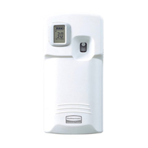 Microburst 3000 dispenser automatic air freshener dispenser with lcd display white 3.25wx6.63h inch dimensions replaces tec1793532 rcp1793532