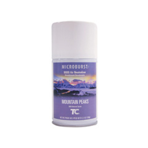 Air Freshener refill for Microburst 9000 Mountain Peaks scent case of 4 refills replaces TEC4012461 rcp4012461