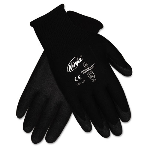 Ninja hpt nylon gloves repells liquid for excellent wet or dry grip size large 12 pairs of gloves replaces mcrn9699l crews glasses replaces CRWN9699LBX Crown Mats CRWN9699LPK