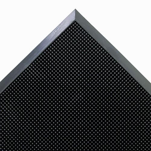 Door mat outdoor indoor scraper mat mat a dor scraper mats rubber fingertip mat 24x32 inch black color replaces cromasr42bla Crown cwnmasr42bk