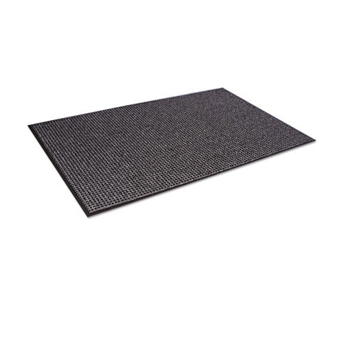 Door mat indoor oxford wiper mat 4x6 black and gray color replaces crooxh46gbl Crown cwnoxh046gy