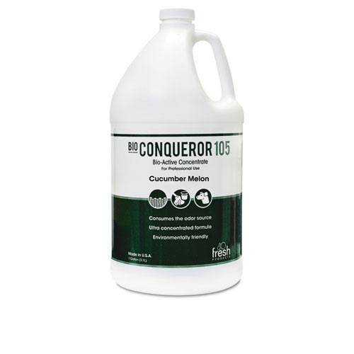 Fresh frs1bwbcmf bio conqueror 105 enzymatic odor counteractant concentrate cucumber melon scent one gallon size case of 4 bottles