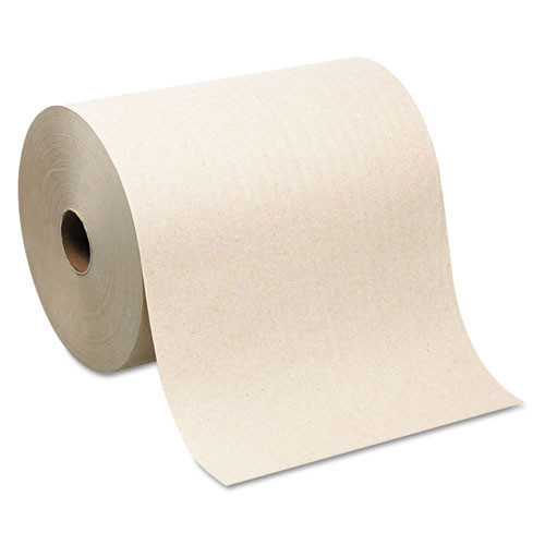 Sofpull GPC26480 paper hand towels nonperforated hardwound towels 1 ply brown 7.87w 1000 foot rolls case of 6 rolls Georgia Pacific