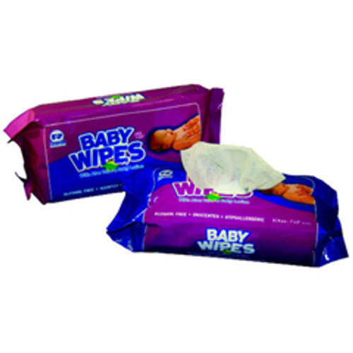 Baby Premoistened disposable Washcloths wipes UNScented 80 wipes per pack case of 12 packs Royal Rpprpbwur80