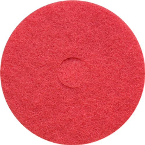 Red Floor Pads Clean and Buff 17 inch standard speed up to 800 rpm case of 5 pads by Cleaning Stuff 17RED GW